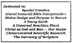 Box at the top of a May 1989 Bible-Science Newsletter